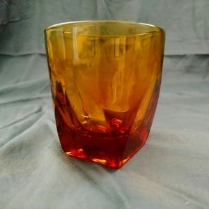 Unknown Kitchen - Vintage amber low ball glasses